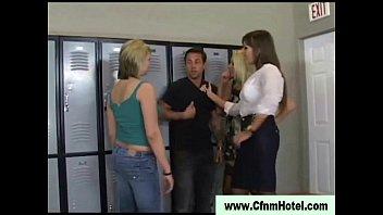 threesome lesbians locker interracial mixedracelesbos room Mp4 son and mom fucking videos free download