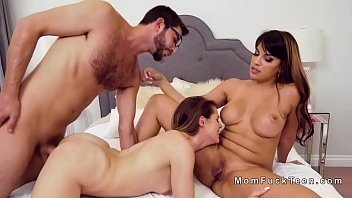 mom threesome orgasm crying Moustache daddy bear