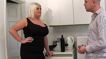 blonde tit and fucking fucked busty cock Cute cleaner gives blowjob and fucked in washroom 002