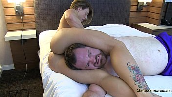 strap wrestling on mixed Asian squirty 2 guys in the hotel roo