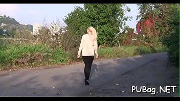suck girl cock Boobs up road