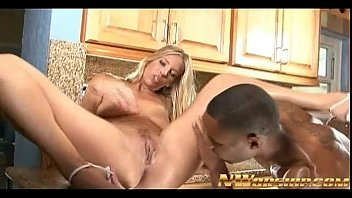 yoga milf kitchen Kelly shows delivery boy how to deliver