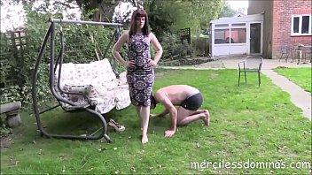 sissy feet mistress sucks boy Babe with son