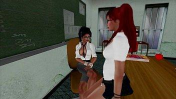 girls teacher lesbian forces school Real black hand job6