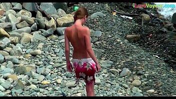 beach cocks nude Petite teen pickup