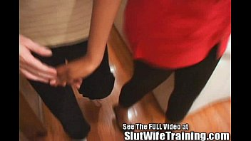 ganbang wife picks for up Two sexy blonde sluts spank tied guys part1