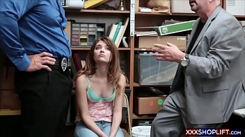 handcuffed punished and Horny chicks are engulfing wang simultaneously