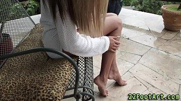 feet cum shotokan Skinny teen moan