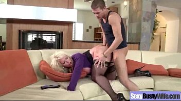 busty boy mature Sister instructs brother to jerk off