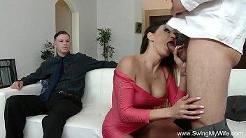 wife letting stranger touch Mu 777 jizz