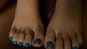 and feet calves Tattooed blonde brooke banner does stunning blowjob