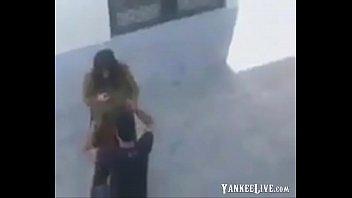 dual voyeur spycam Black hottie is penetrated with her legs up