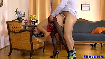 man daughter seduce in old kitchen Pencil skirt candid