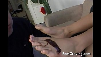 threesome off cum feet licking her Uncle fucks nieces friend