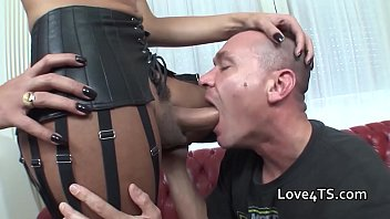 big balls wank boy Blowjob in pantyhose and leotard