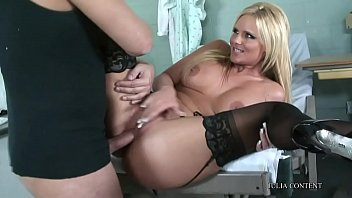 tit at blonde massage a enjoys salon Granny and young boy love