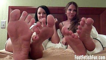 feet cum shotokan Three college asses