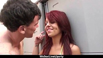 office wild party Absolute foot humiliation for lesbian slave