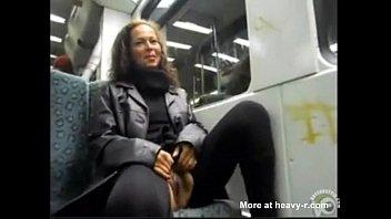 uk handjob train bus public Isis strapon guy