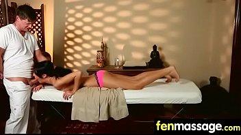 a tit salon enjoys at massage blonde Monster ass curves