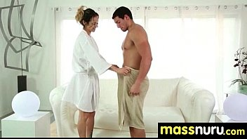 stepgirl girl massage seduce Threesome by her husband and brother