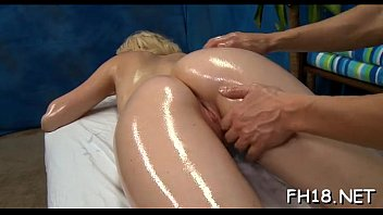 spa massage treatment Large breasts tied to bed public