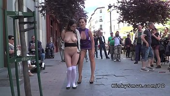 8 cum public walk Dog fteen girl