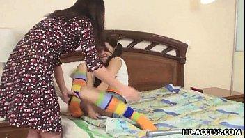 lesbians cute squirt teen Stepmom share dildo