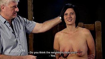 punching tit woman by slapping Skinny rape scene