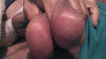 cumshot balls big Reverse wife cuckold