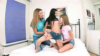 bbw threesome lesbian Angel dark fucks on the night out