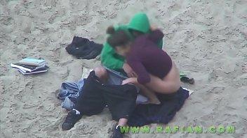 on beach the spycam Leather sluts full with sperm