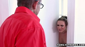 seduced hot by milf in bikini neighbor They force fuck his wife in front of him
