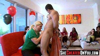 back cfnm stripper stage Lengthy shlong enters loving holes of hotty