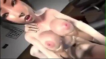 xxx download hentai White chick takes black gang bang