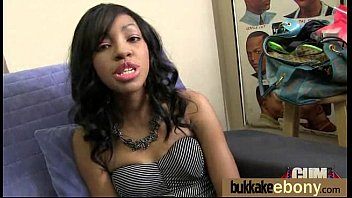 web on cum ebony A real hot one built like the rock of gibralter