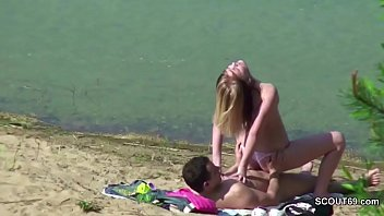 couple voyeur sex pool A hard fuck and anal while tied up