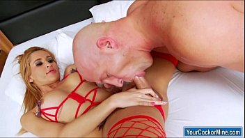 fucked guys shemale by Tied handjob to slave