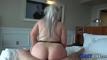 bbw blond enama Sitting with legs spread rubbing cunt in front of stepfather