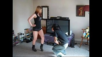 platform ballbusting in Young whore piper perri works the pipe like a pro