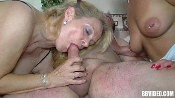 milf brunette cock beautiful sucking 2 female guards fucks the prisoner
