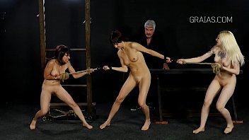 girl slave fisting screaming tied Girl towel ripped off