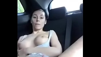 in exposed car Shemale meets female 3