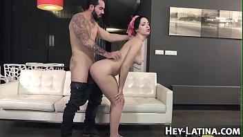 latina tight boobs Very hot blonde ex girlfriend sucking dick and fucked pov