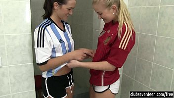the bathroom prince lesbian maids with in Public teen drink piss