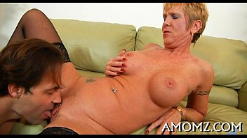 stretching mom needs No cock is too big for her