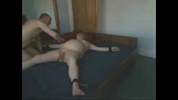 choked slut twink tied abused male Tied and toyed in stockings