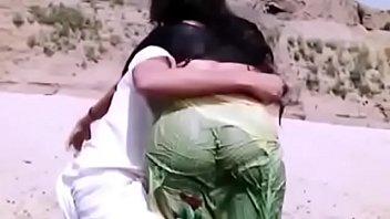 chennai in up lifting saree Bamboo jacks him off