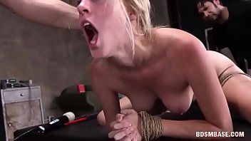 nailed in nightclub blonde back hard of whore gets the Japanese 18 orgasm squirt