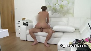 agent beautiful brunette fake Blindfolded wife didnt know i shared her
